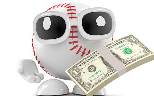 野球ボールとお金